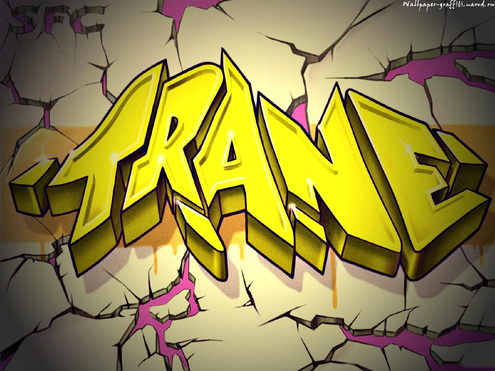 Обои с граффити на тему надписи